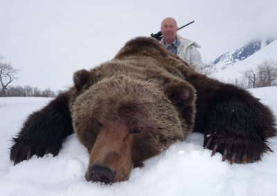 Brown bear hunting in Magadan, Russia with Kulu Safaris outfitter