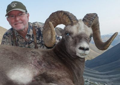 Bradford Derron with his trophy, Magadan, Russia