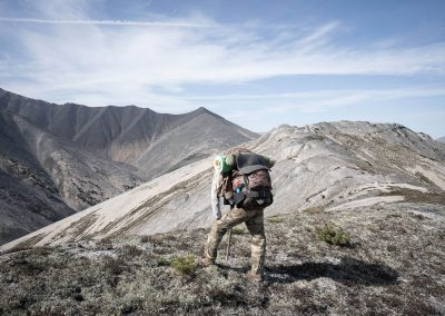 Hunter in the mountains of Magadan, Russia with Kulu Safaris