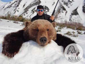 Brown bear hunt in the contrasting nature of Magadan, Russia