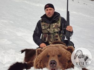 Successful brown bear hunt with Kulu Safaris, Magadan, Russia