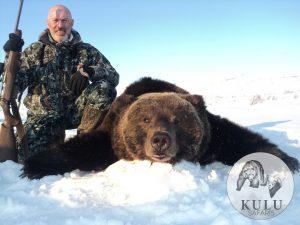 Brown bear hunt in magadan, Russia with kulu Safaris