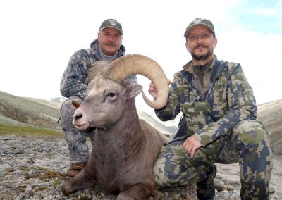 Enrique Velasco and Sergei Rudakov with the trophy, Magadan, Russia with Kulu Safaris
