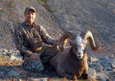 Ruiz Gallodron with his big snow sheep in Magadan, Russia