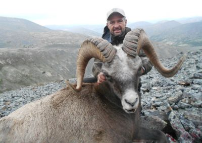 Andres Jesus in the mountains of Magadan, Russia with Kulu Safaris