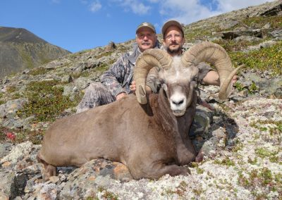 Enrique Velasco and Sergei Rudakov hunting snow sheep in Magadan, Russia