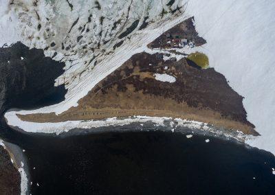 Pyagina peninsula aerial view